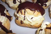 dinaniitrecuti.blogspot.com: Eclere cu crema de vanilie Pancakes, Pudding, Breakfast, Desserts, Food, Sweets, Morning Coffee, Tailgate Desserts, Deserts