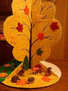 Fall Art Projects For Preschoolers 69 Ideas Group Art Projects, Animal Art Projects, Fall Art Projects, Projects To Try, Preschool Crafts, Diy Crafts For Kids, Art Expo, Pop Up Karten, Fall Arts And Crafts
