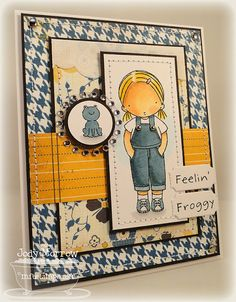 Pure Innocence - feeling Froggy card