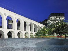 Arcos da Lapa or Carioca Aqueduct and Petrobras building.  Petrobras annual report photo in Rio de Janeiro, Brazil.  Photoindustrial. - Fernando Bergamaschi - Picasa Web Albums
