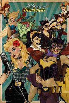 dc comics Bombshells | ... dc comics bombshells maxi poster 61cm x 91 5cm 150gsm tagged with dc