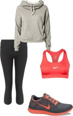 ideal workout outfit, want those nikes!