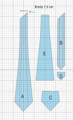 Schnittmuster Krawatte . . . . . der Blog für den Gentleman - www.thegentlemanclub.de/blog