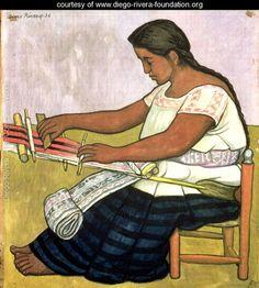 Tejedora 1936 - Diego Rivera - www.diego-rivera-foundation.org