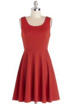 City Chanteuse Dress. While your life may not actually be a musical, you never miss an opportunity to lyrically riff on whatever strikes your fancy! #orange #modcloth
