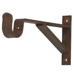 metal curtain supports | Curtain rod bracket 6 inch projection for 1 inch metal pole. 3 3/4 ...