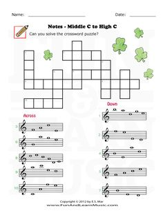 Treble Clef Middle C to High C - SproutBeat