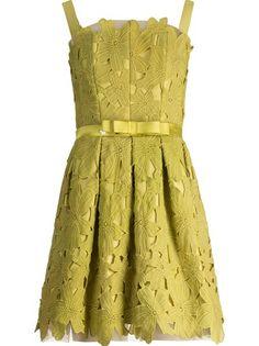 Martha Medeiros Vestido Verde Com Aplicações