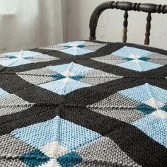Tilework Afghan Pattern - Knitting Patterns and Crochet Patterns from KnitPicks.com