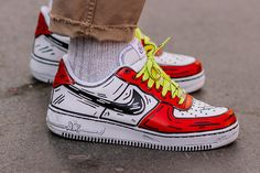 Custom Painted Shoes, Custom Shoes, Custom Af1, Nike Shoes Air Force, Swag Shoes, Fresh Shoes, Hype Shoes, Custom Sneakers, Girls Shoes