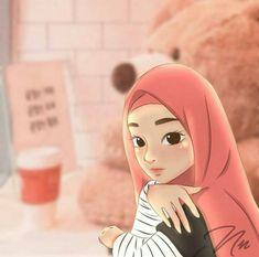 muslim fashion art - my ely Dps For Girls, Islamic Cartoon, Anime Muslim, Hijab Cartoon, Beautiful Fantasy Art, Boy Tattoos, Emoji Wallpaper, Muslim Girls, Cute Gif
