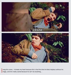 Oh, Merlin! THE FEELS (from: http://thepratandtheidiot.tumblr.com/post/60838596864/tardis-bitch-omg-this-scene-it-breaks-my-heart)