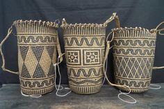 Sale > Weavings > PATTERN #6 ~DURABLE NATIVE SLING BAGS~ Tribal Jungle Camping Backpack Dayak Dyak Borneoartifact item number: