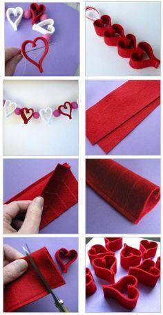 Para San Valentin. Manualidad super fácil y muy bonita.