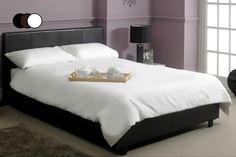 instead of for a faux leather double bed, memory foam mattress, tog duvet and bedding, for a king size bed - choose from 2 colours and save up to Leather Double Bed, Leather Bed, Foam Pillows, Bed Pillows, Single Divan Beds, Memory Foam, Bed Mattress, Bed Styling, Double Beds