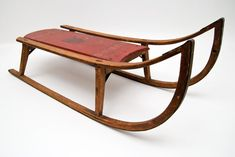 Antique Sleds | Original Surface Antique Painted Red and Black Sled with Indian Paris ...