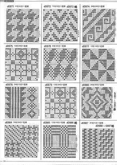 1000 Cases of knitting by machine Crochet Square Patterns, Crochet Chart, Thread Crochet, Filet Crochet, Irish Crochet, Crochet Motif, Diy Crochet, Stitch Patterns, Knitting Charts