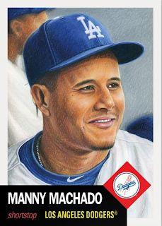 c820d82f90e Topps Living Set -  88 - Manny Machado in Dodger Blue