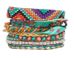 Sommerliches Armband 'BAHIA' in Türkis von Hipanema!