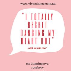 I totally regret dancing...Not!   #dance #danceclasses #dancewearsydney #latindance #vivazdance #130dunningaverosebery