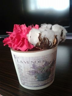 Handmade paperflower Lavender, Bucket, Handmade, Hand Made, Buckets, Aquarius, Handarbeit