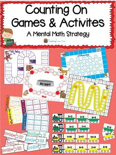 Counting on is a mental math addition strategy. This pack contains 4 board games, 2 bingo games and 2 matching activities.