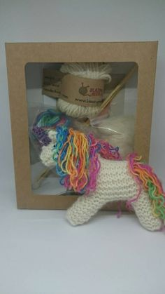Knit your own Unicorn  knit your own kit by blazingneedlez on Etsy