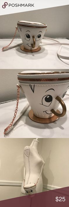 Chip Disney teacup crossbody purse Held once. Super cute. Got lots of compliments. Bags Crossbody Bags