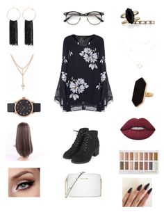 """Untitled #228"" by heather2003 on Polyvore featuring Topshop, Michael Kors, Chloe + Isabel, Bebe, Jaeger, Marc Jacobs and Lime Crime"