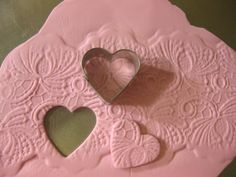 embossed fondant hearts look great on cupcakes