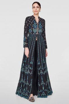 Designer Suits - Buy Reyhana Jacket for Women Online - FW18RR023_Black - Anita Dongre