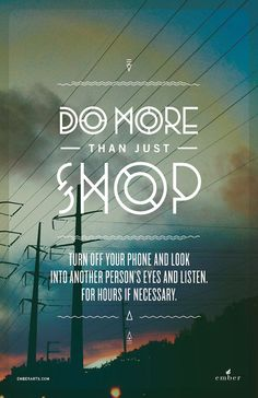 Do More Than Just Shop - Black Friday Campaign by Cody Small, via Behance