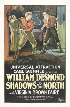 Shadows of the North (1923) Stars: Rin Tin Tin, William Desmond, Virginia Brown Faire, Fred Kohler ~ Director: Robert F. Hill