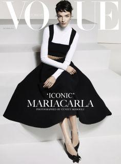 Lovely cover:  Mariacarla Boscono by Cuneyt Akeroglu for Vogue Turkey - October 2013