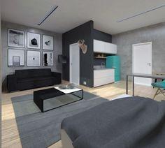 Trabalho acadêmico (2016) - Projeto de edificação II / Habitação Estudantil (Apartamento 45m²)