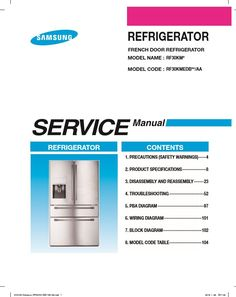 samsung rf28k9070sg rf28k9070sr service manual repair instructions rh pinterest com Samsung RF4289HARS Manual Samsung French Door Repair Manual