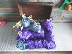 Decor, Lilac, Personalised Money Box, Old Chest, Pirate Treasure, Treasure Chest, Leather Cord, Blue Green, Decoration