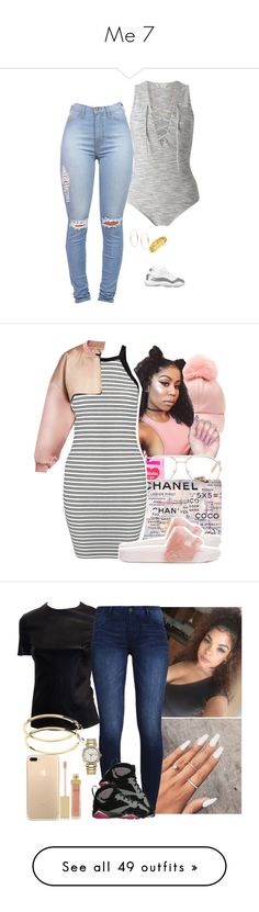 """Me 7"" by mzlowkey ❤ liked on Polyvore featuring Miss Selfridge, Michael Kors, Mark Davis, Chanel, Chloé, Valfré, Burberry, Puma, AERIN and Pieces"