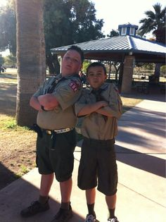 When boys become men, from cub to boy scouts. ;)