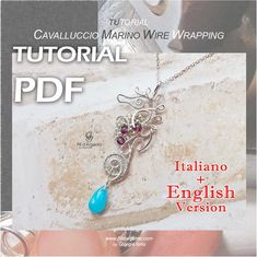 Tutorial Cavalluccio Marino Wire Wrapping - pdf - Versioni Italiana e Inglese Wire Wrapping, Wraps, Pdf, Pendant Necklace, Bracelets, Etsy, Jewelry, Jewlery, Jewerly