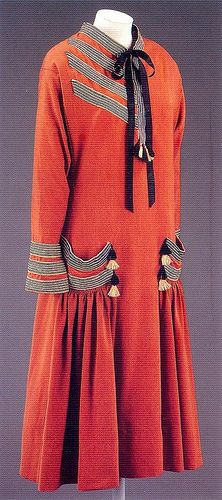 Brique, day dress by Paul Poiret, 1924 by Gatochy, via Flickr