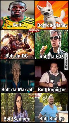 Todos os Bolt existentes kkkkkkk
