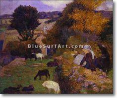 Breton Shepherdess - £124.99 : Canvas Art, Oil Painting Reproduction, Art Commission, Pop Art, Canvas Painting