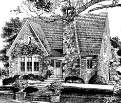 French Country Cottage House Plans plan 48033fm: petite french cottage | french country house plans