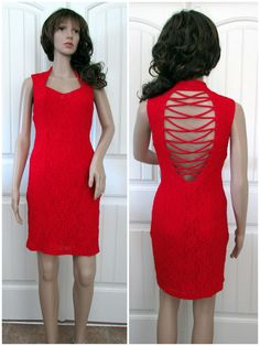 Party Dress Sexy Short Red Lace Cocktail Evening Women Sleeveless Fashion Smal   #CdcEvening #Sexy #Cocktail