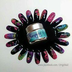 Sugar effect nails art