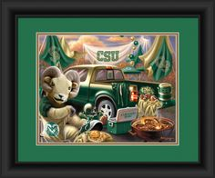 Colorado State Rams Tailgate Print (backorder)