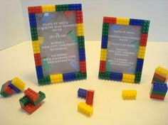 Lego picture frames - super cute for a kid's room