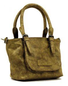 Die Kurzgrifftasche Annabell von Fritzi aus Preußen aus der Serie Vintage ist aus hochwertigem Kunstleder gefertigt  Das Hauptfach ist mit Reißverschluss versch