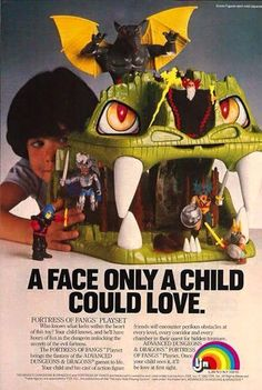 A face only a child could love. AD&D Fortress of Fangs Playset by Ljn.